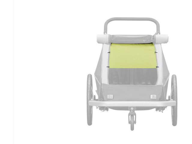 Croozer Aurinkosuoja Kid Plus / Kid for 2 :een , vihreä